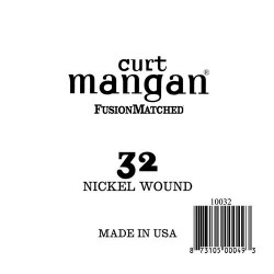 Curt Mangan 32 Nickel Wound Ball End Húr
