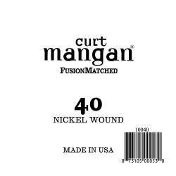 Curt Mangan 40 Nickel Wound Ball End Húr