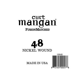 Curt Mangan 48 Nickel Wound Ball End Húr