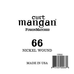 Curt Mangan 66 Nickel Wound Ball End Húr