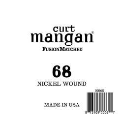 Curt Mangan 68 Nickel Wound Ball End Húr