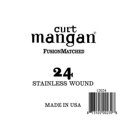 Curt Mangan 24 Stainless Wound Ball End Húr