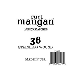 Curt Mangan 36 Stainless Wound Ball End Húr