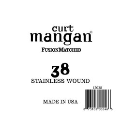 Curt Mangan 38 Stainless Wound Ball End Húr