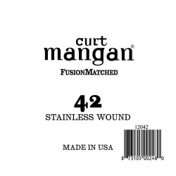 Curt Mangan 42 Stainless Wound Ball End Húr