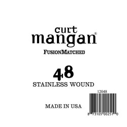 Curt Mangan 48 Stainless Wound Ball End Húr