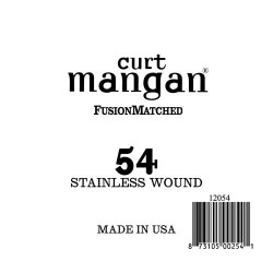 Curt Mangan 54 Stainless Wound Ball End Húr