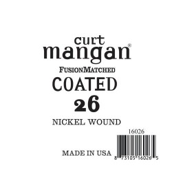 Curt Mangan 26 Nickel-Plated Steel Bevonatos Húr
