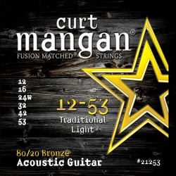 Curt Mangan 12-53 80/20 Bronze Traditional Light Akusztikus Gitár Húr Szett
