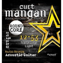 Curt Mangan 12-53 80/20 Bronze Round Core Traditional Light Akusztikus Gitár Húr Szett