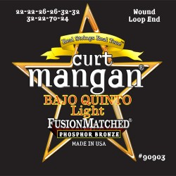 Curt Mangan PhosPhor Bronze Wound Loop End Quinto Light Bajo Húr Szett