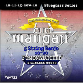 Curt Mangan 10-20 Stainless Steel Traditional Medium 5 Darabos Bendzsó Húr Szett