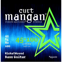 Curt Mangan 45-100 Nickel Wound Light Basszusgitár Húr Szett