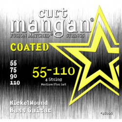 Curt Mangan 55-110 Nickel Wound Medium Plus Bevonatos Basszusgitár Húr Szett