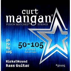 Curt Mangan 50-105 Nickel Wound Medium Light Basszusgitár Húr Szett