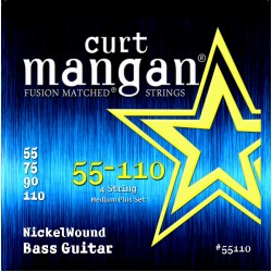 Curt Mangan 55-110 Nickel Wound Medium Plus Basszusgitár Húr Szett