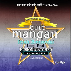 Curt Mangan 12-42 PhosPhor Bronze Loop End Ír Light Bouzouki Húr Szett