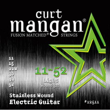 Curt Mangan 11-52 Stainless Steel Light Gitár Húr Szett