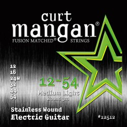 Curt Mangan 12-54 Stainless Steel Medium Light Gitár Húr Szett