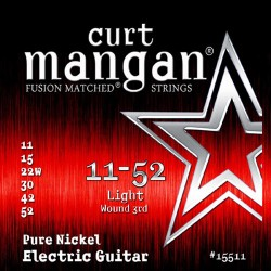 Curt Mangan 11-52 Pure Nickel Light Gitár Húr Szett