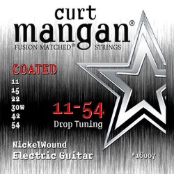 Curt Mangan 11-54 Nickel Wound Bevonatos Drop Tuning Gitár Húr Szett