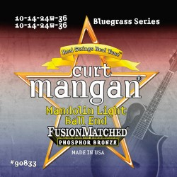 Curt Mangan 10-36 PhosPhor Bronze Ball End Light Mandolin Húr Szett
