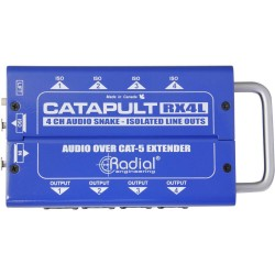 Catapult RX4L 4 Channel Receiver 4 outs and 4 line level isolation outs cat 5 audio snake