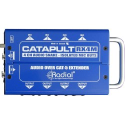 Catapult RX4M 4 Channel Receiver 4 outs and mic level isolation outs cat 5 audio snake