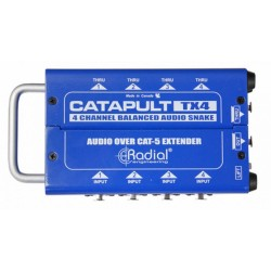 Catapult TX4 4 Channel Transmitter with 4 XLR ins and 4 XLR outs cat 5 audio snake