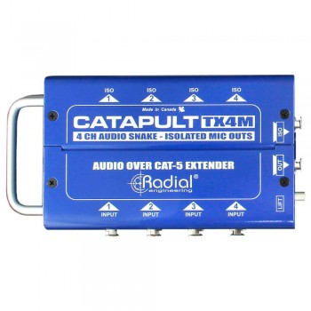 Radial Catapult TX4M 4 Csatornás Jeladó + 4 Be- és 4 Mikrofon level Izolált Kimenet CAT5 Audio Snake