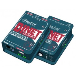Dinet Dan-RX Dante network receiver, digital inputs and stereo analog outputs