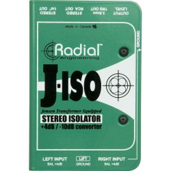 J-Iso Stereo +4dB to -10dB Converters
