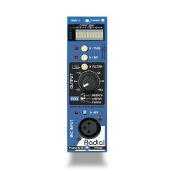 Radial POWERPRE 500-as Mikrofon Előfok Modul