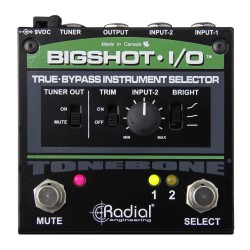 BigShot I/O True Bypass Instrument Selector