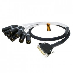 Vovox MucoLink Direct SD 1m DB25 - 8x papa XLR multipair kábel